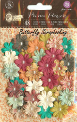 Prima Flowers 48 Flowers Bella Rouge Collection Scrapbooking Prima 580537 NEW