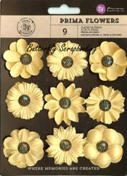 Prima Flowers 9 Flowers Luminous Collection Scrapbooking Prima Inc. 574666 NEW