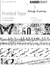 Printed Tape Pack Scrapbooking Paper Crafting Embellishment by Kaisercraft NEW