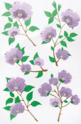 Purple Blossom Scrapbook Stickers by Martha Stewart Crafts EK SUCCESS New