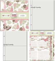 Recipe Binder Kit Everything Inc. Primrose Collection BOBUNNY 8x9 Great Gift New