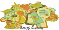 ROCK POOL SEA FRIENDS Collectables Scrapbooking 50 pc Die Cuts Kaisercraft NEW