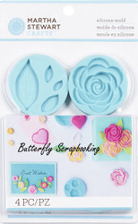 Romantic Design Mold for Crafter Clay Martha Stewart Crafts Paper Crafting NEW