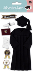 School Graduation Cap & Gown Diploma 3D Stickers Jolee's Boutique EK Success New