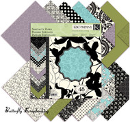 Scrapbooking 12X12 Paper Pad BLACK & IVORY by K&Company 48 Sheets NEW
