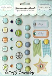 Scrapbooking Brads Baby Boy Collection Carta Balla Paper Co. 28 pieces New