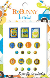 Scrapbooking BRADS Boy On The Go BoBunny Bo Bunny NEW