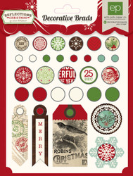 Scrapbooking CHRISTMAS Brads Reflections Collection Echo Park Paper Co. 30 p New
