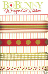 Scrapbooking RIBBON Raspberrie Pie Ribbons Bo Bunny NEW