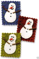 SNOWMAN 3D Scrapbook Stickers Embellishments Paper Blis