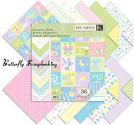 Snuggle Bug BABY Scrapbooking 12X12 Paper Pad 36 Sheets K&Company NEW