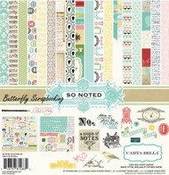 So Noted 12X12 Scrapbooking Kit Carta Bella Paper Co. Author Dear Diary NEW
