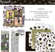 SOCCER SPORTS 12X12 Scrapbooking Kit Page Kit by Paper Studio 331504 NEW