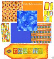 SOUTHWEST Festia 12X12 Scrapbooking Kit MAGENTA New