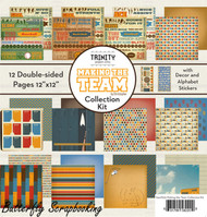 SPORTS Teams 12X12 Scrapbooking Collection Kit Trinity Paper Crafting Arts NEW