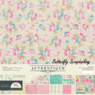 Spring Flourish Collection 12x12 Scrapbooking Paper Crafting Kit Authentique NEW