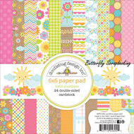 Spring Hello Sunshine Scrapbooking 6x6 inch Paper Pad Doodlebug 24 Sheets NEW