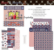 Stars & Stripes USA July 4 12X12 Scrapbooking Kit The Paper Studio Memories NEW