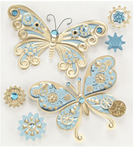 Steam Punk BUTTERFLIES Jolee's Boutique EK Success New