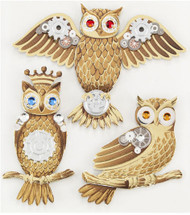 Steam Punk OWLS BIRDS Jolee's Boutique EK Success New