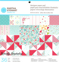Stitched Scrapbooking 12X12 Paper Pad 36 Sheets Martha Stewart Crafts New