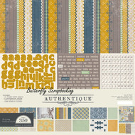 Strong Collection Men& Boy 12x12 Scrapbooking Paper Crafting Kit Authentique NEW