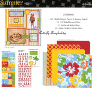 SUMMER BEACH 12X12 Scrapbooking Kit Paper Studio NEW