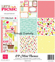 Summer Kite Let's Picnic Collection 12X12 Scrapbooking Kit Echo Park Paper NEW