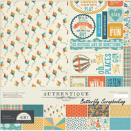 Summer Playful Collection 12x12 Scrapbooking Paper Crafting Kit Authentique New