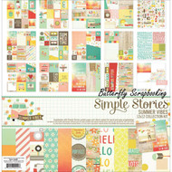 SUMMER VIBES Collection Kit 12X12 Scrapbooking Kit Simple Stories 6300 NEW