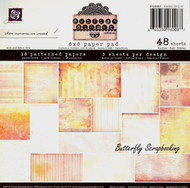 SUNRISE SUNSET COLLECTION Scrapbooking 6x6 inch Paper Pad PRIMA 48 Sheets NEW