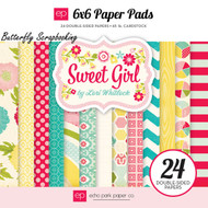 Sweet Girl Collection Scrapbooking 6x6 inch Paper Pad 24 Sheets Echo Park NEW