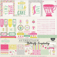 SWEET TEA INFUSED Collection Kit 12x12 Scrapbooking Crafting Kit Authentique NEW