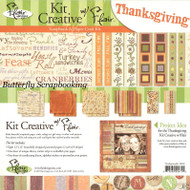 THANKSGIVING Collection 12X12 Scrapbooking Kit by FLAIR DESIGNS New Fall Harvest