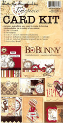 TIMEPIECE BoBunny Scrapbook CARD KIT Create 8 Cards NEW