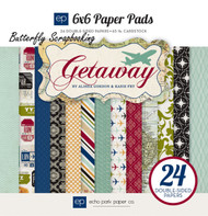 Travel Getaway Collection Scrapbooking 6x6 inch Paper Pad 24 Sheet Echo Park NEW