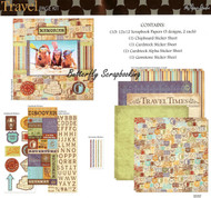 Travel Vacation Adventure 12X12 Scrapbooking Kit The Paper Studio Memories NEW