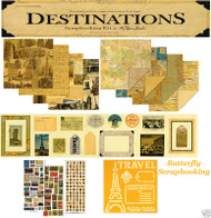 TRAVEL VACATION Destionations 12X12 Scrapbooking Kit Paper Studio NEW