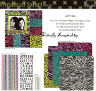 UNTAMED SAFARI 12X12 Scrapbooking Kit Paper Studio NEW