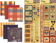 USA AMERICA FREEDOM Collection 12X12 Scrapbooking Kit NRN Designs New