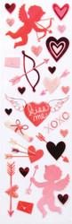 Valentine Cupid Kiss Me Hearts Scrapbook Stickers Martha Stewart Crafts NEW