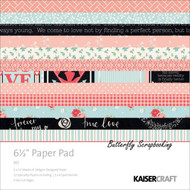 Valentine Love XO Collection 6.5 inch Paper Pad Scrapbooking Kit Kaisercraft NEW