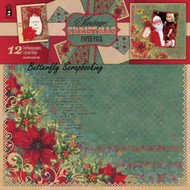 VINTAGE CHRISTMAS 12x12 Scrapbooking Paper Pack HOT OFF THE PRESS 4170 NEW
