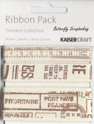 Vintage Ribbon Pack Scrapbooking Paper Crafting Embellishment Kaisercraft NEW