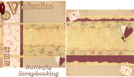 Vintage Valentine Love Romance 12X12 Page Layout Scrapbooking Kit Paper Craft