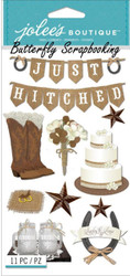 WESTERN WEDDING 3D Stickers Jolee's Boutique EK Success 50-50926 NEW