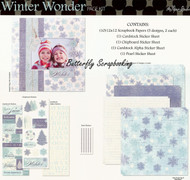Winter Wonderland Snowflake 12X12 Scrapbooking Kit The Paper Studio Memories NEW