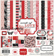 Words Of LOVE Collection Kit 12X12 Scrapbooking Kit Carta Bella Valentine NEW