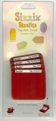 Sizzix Sizzlits, Dies Tag Set, Small - NEW, 38-9614