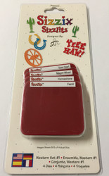 Sizzix Sizzlits, Dies Wester Set #1 - NEW, 38-9847